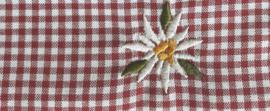 Mondkapje Edelweiss- rood geruit
