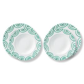 Diner voor twee set - Geflammt groen cadeauverpakking