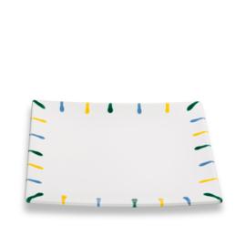 Dessertbord vierkant Buntgeflammt - 20 x 20 cm