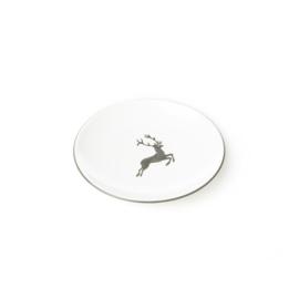 Schoteltje voor mokkakopje Hert grijs - 11 cm