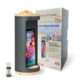 Nightholder voor mobiele telefoon - tot 75% minder straling - antracietgrijs