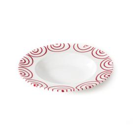 Pastabord Geflammt rood - 29 cm
