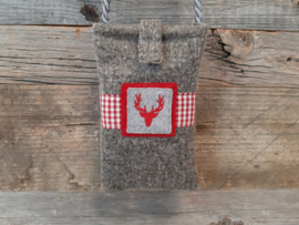 Telefoonhoesje Hert - rood