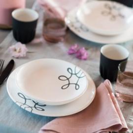Ontbijt voor twee set - Pur Geflammt grijs cadeauverpakking