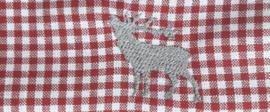 Mondkapje Hert- rood geruit