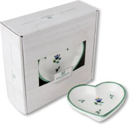 Schaaltje hart - Alpenbloemen cadeauverpakking