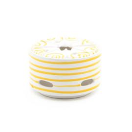 Theelicht Geflammt geel - 14 cm