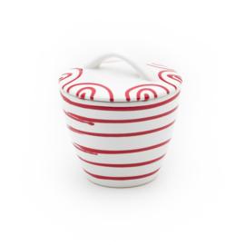 Suikerpot gourmet Geflammt rood - 9 cm