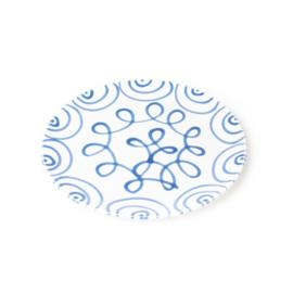 Dinerbord Geflammt blauw - 25 cm