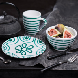 Dinerbord Geflammt groen - 28 cm