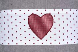 NIEUW- Zirben kussen met rood hart