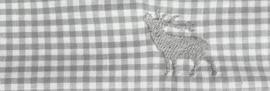 Mondkapje Hert - grijs geruit