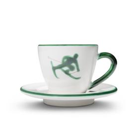 Espresso-set Toni der Skifahrer groen