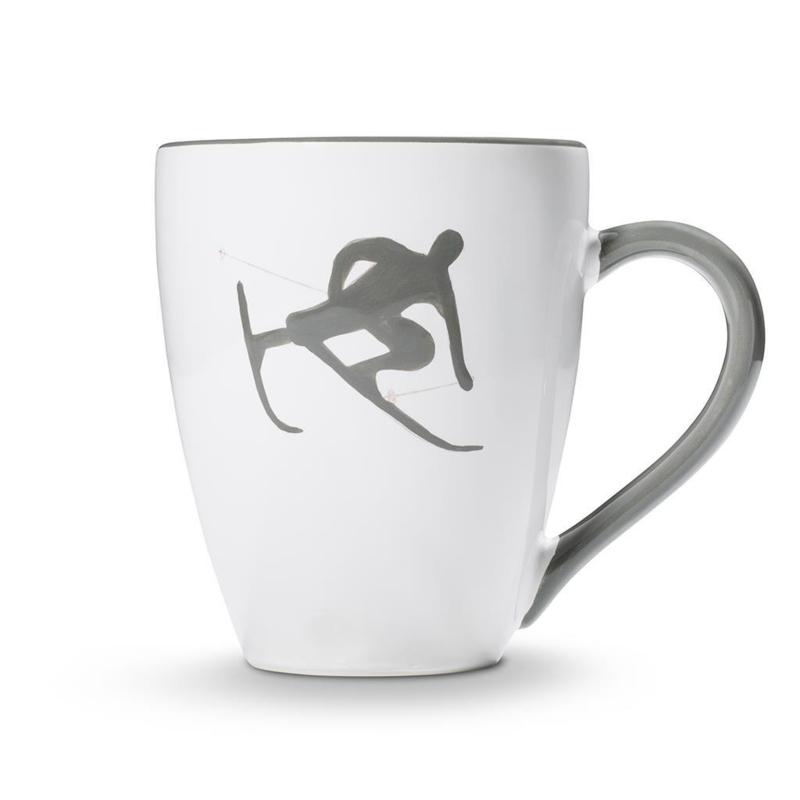 Koffiebeker Max Toni der Skifahrer grijs  - 0,3 l
