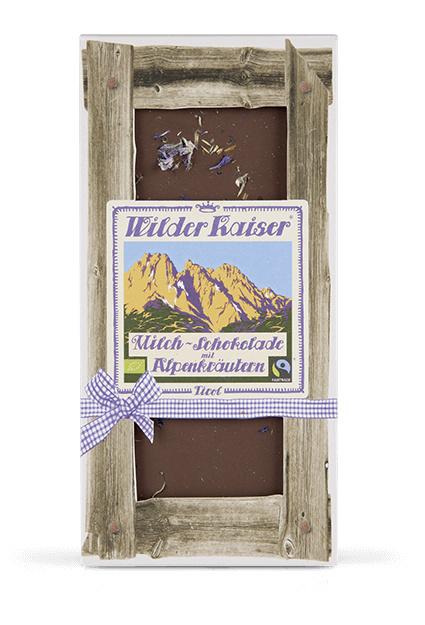 Bio-melk chocolade met Alpenkruiden