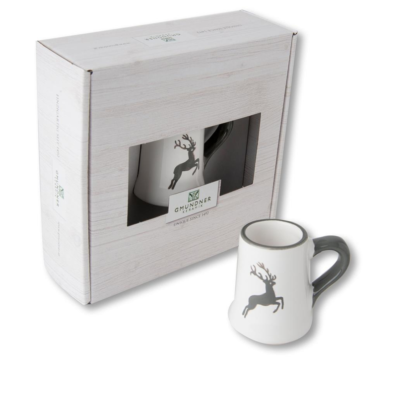 Mini pul - Hert grijs cadeauverpakking