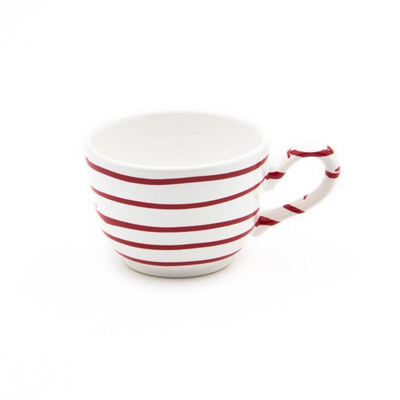 Koffiekopje Geflammt rood - 0,19 l