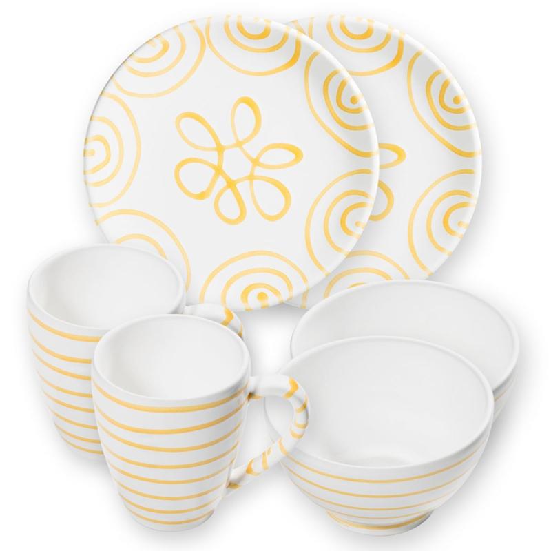Berghut ontbijt set voor twee - Geflammt geel