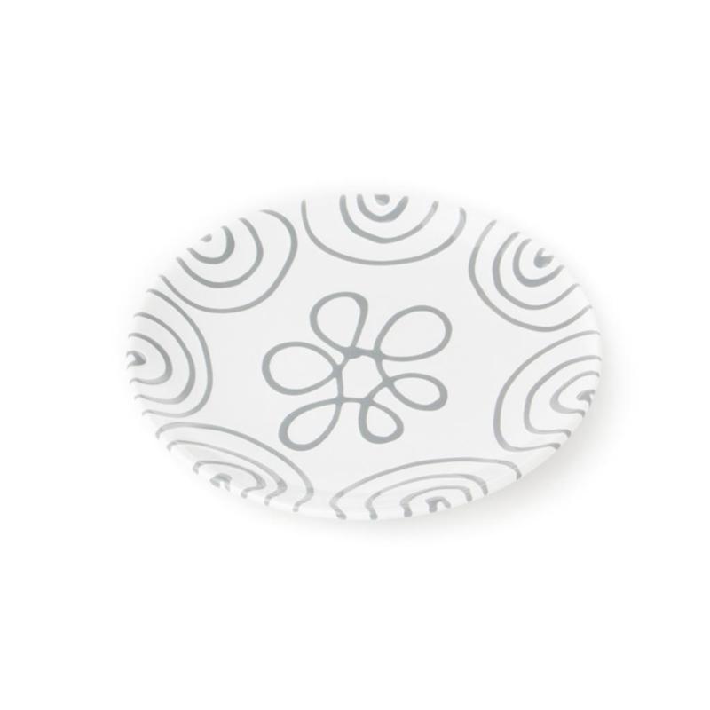 Dessertbord Geflammt grijs - 20 cm