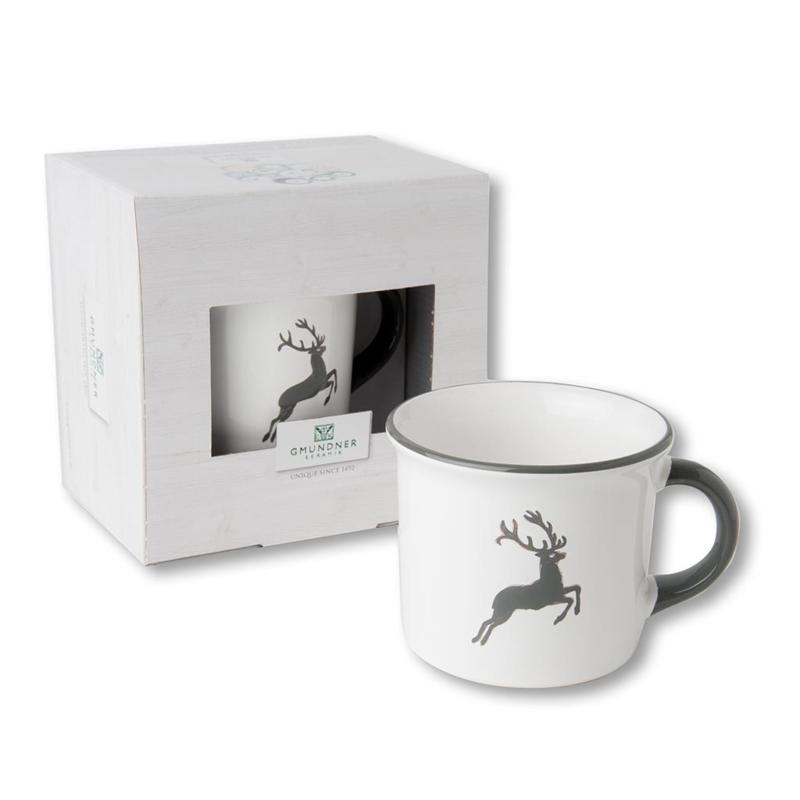 Koffiebeker - Hert grijs cadeauverpakking