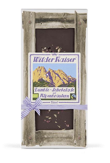 Donkere chocolade met Alpenkruiden