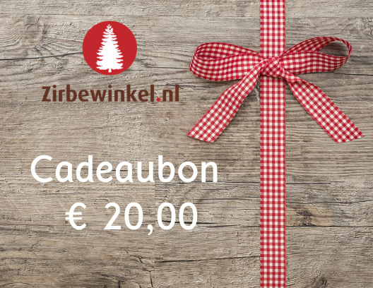 Cadeaubon ter waarde van € 20,00