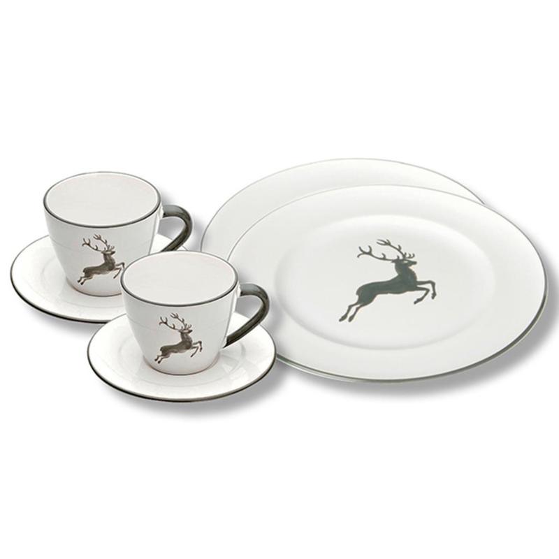 Ontbijt voor twee set - Hert grijs cadeauverpakking