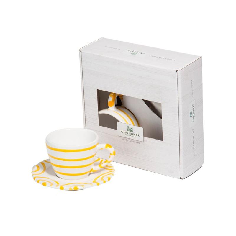 Espresso voor jou set- Geflammt geel cadeauverpakking