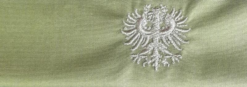 Mondkapje Tiroler Adler  - effen groen