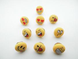 10 stuks smiley's broches