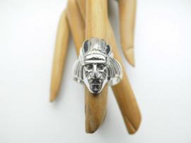 Zilveren indiaan ring.