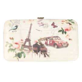 """PLATTE portemonnee """"Romantisch Parijs"""""""