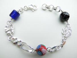 Zilveren allakondre bracelet. (dik)