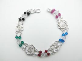 Zilveren allakondre bracelet.