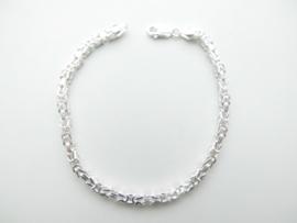 Zilveren konings bracelet (dunner)