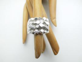 Zilveren pietpiet ring.