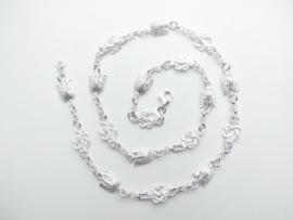 Zilveren indianen mattenkloppers ketting.