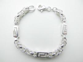 Zilveren keizer versage buis bracelet.