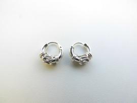 Zilveren baby oorbellen