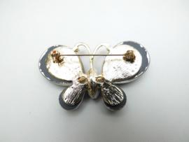 Paarse vlinder broche