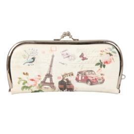 """Luxe knip portemonnee """"Romantisch Parijs"""""""