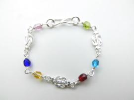 Zilveren baby mattenkloppertjes/allakondre bracelet.