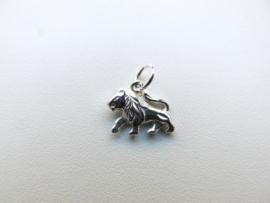 Zilveren leeuw sterrenbeeld hangertje.