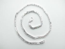 Zilveren koningsketting. (dikker)