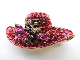 Broche rode hoedje.
