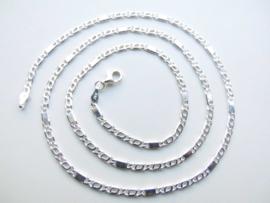 Zilveren fantasie ketting (55 cm)