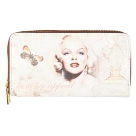 """Dubbel rits portemonnee """"Marilyn Monroe"""""""
