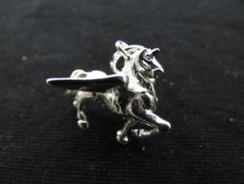 """Zilveren eenhoorn """"Pegasus"""" hanger."""