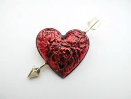 Cupido rode hart broche