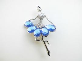 Broche ballerina blauw.